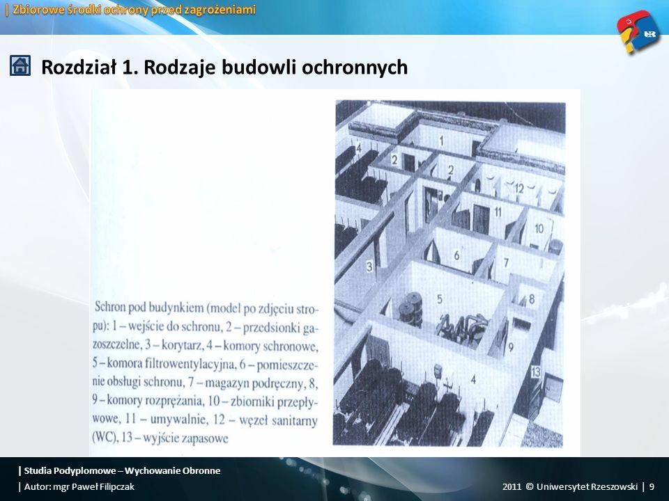   Studia Podyplomowe – Wychowanie Obronne 2011 © Uniwersytet Rzeszowski   20  Autor: mgr Paweł Filipczak Rozdział 1.