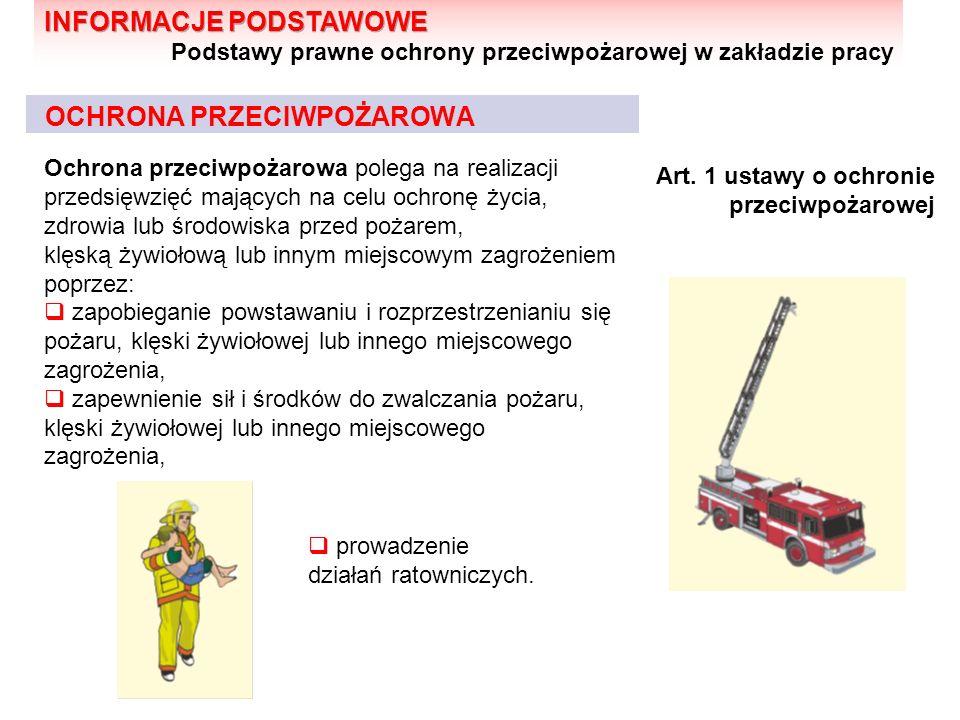 OCHRONA PRZECIWPOŻAROWA Ochrona przeciwpożarowa polega na realizacji przedsięwzięć mających na celu ochronę życia, zdrowia lub środowiska przed pożare