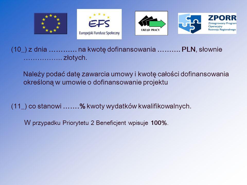 (12_) Okres realizacji projektu od …………….do …………….
