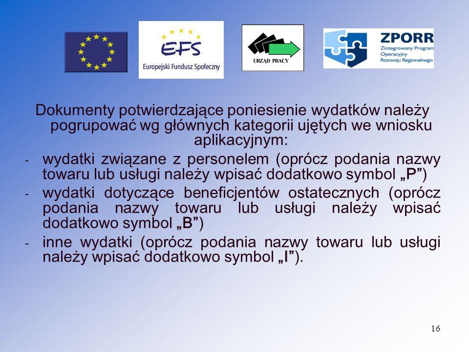 Kolejność dokumentów w zestawieniu (20_) i załączonej dokumentacji powinna być zgodna.
