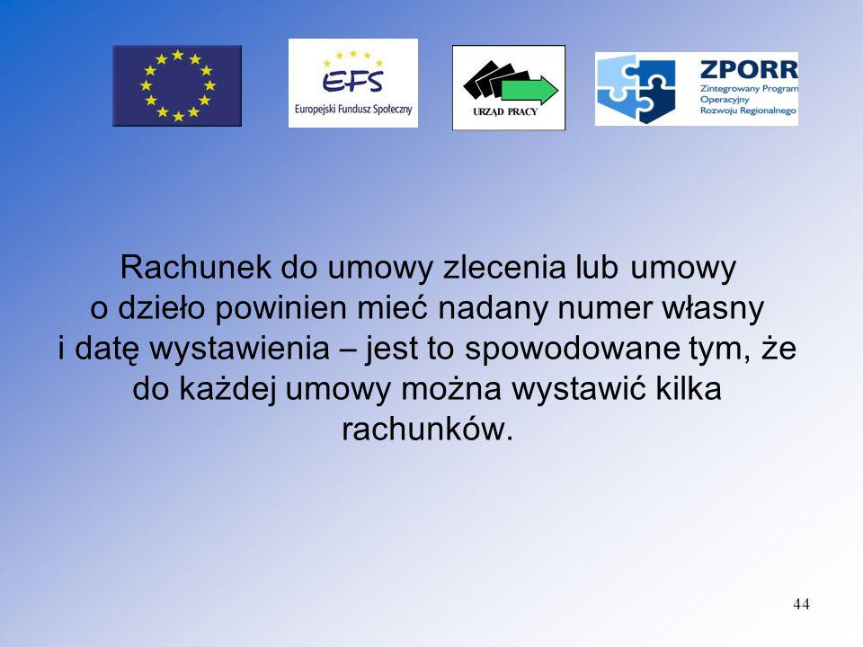 Sposób opisu dokumentów : Potwierdzone za zgodność z oryginałem przez osobę upoważnioną do reprezentowania Beneficjenta kserokopie oryginałów faktur/dokumentów o równoważnej wartości dowodowej powinny zawierać w opisie umieszczonym na odwrocie dokumentu nr umowy o dofinansowanie w ramach Działania nr… Zintegrowanego Programu Operacyjnego Rozwoju Regionalnego, Nazwa Projektu...; a dnotację, że Projekt jest współfinansowany ze środków Europejskiego Funduszu Społecznego oraz ze środków budżetu państwa;