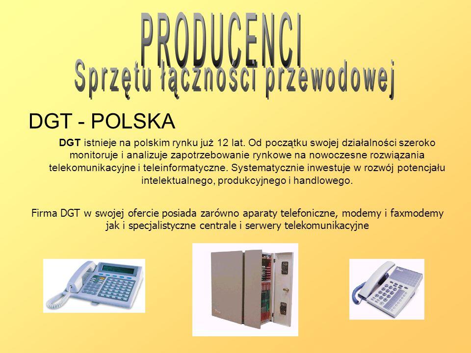 DGT - POLSKA DGT istnieje na polskim rynku już 12 lat. Od początku swojej działalności szeroko monitoruje i analizuje zapotrzebowanie rynkowe na nowoc