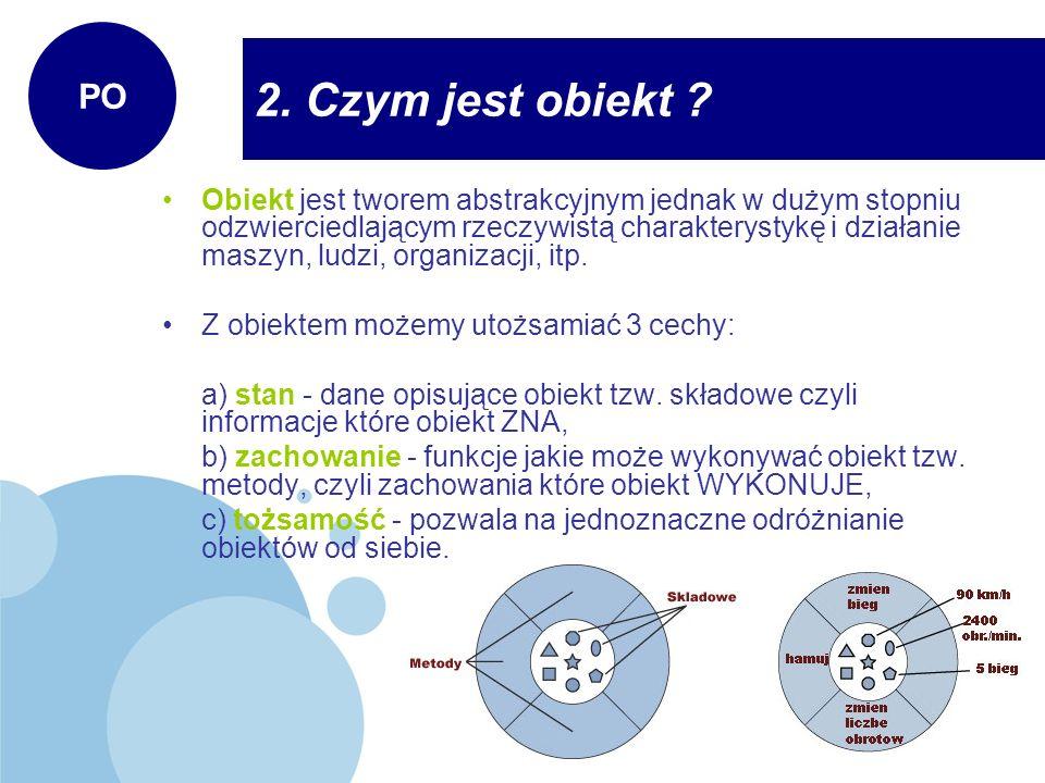 Konstruktor obiektu to metoda składowa klasy.