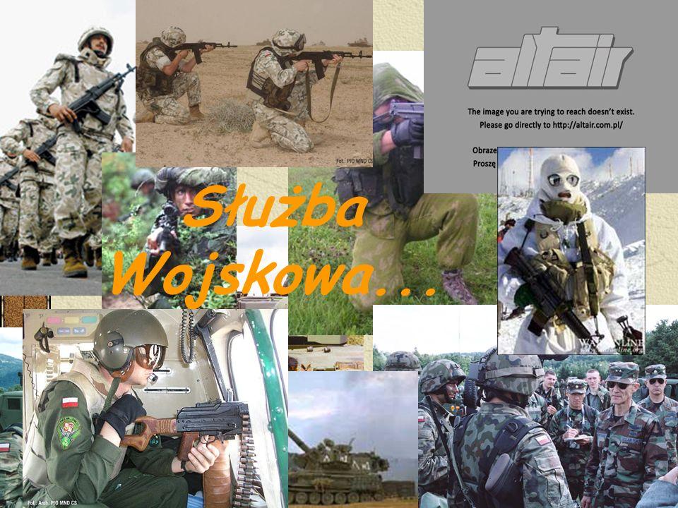 -1.1 Prawne uregulowania służby wojskowej -1.2 Podstawowe uzbrojenie i wyposażenie żołnierza -1.3 Stopnie wojskowe -1.4 Podstawowe zasady żołnierskiego zachowania