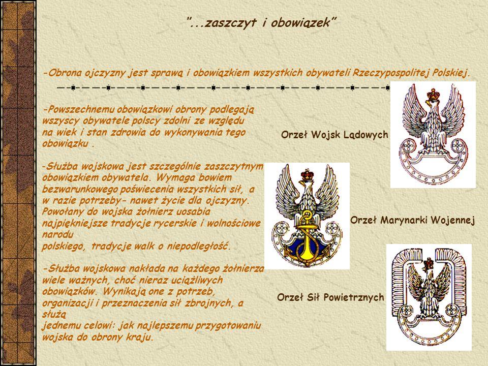 Prawne uregulowania służby wojskowej Podstawowym aktem prawnym regulującym m.