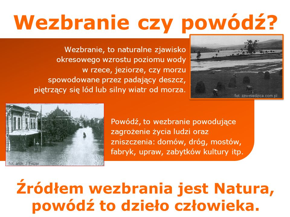 29% 35% 13% 3% 20% Powodzie na świecie Od 1990 do 2001 roku zanotowano na świecie około 2200 powod zi.