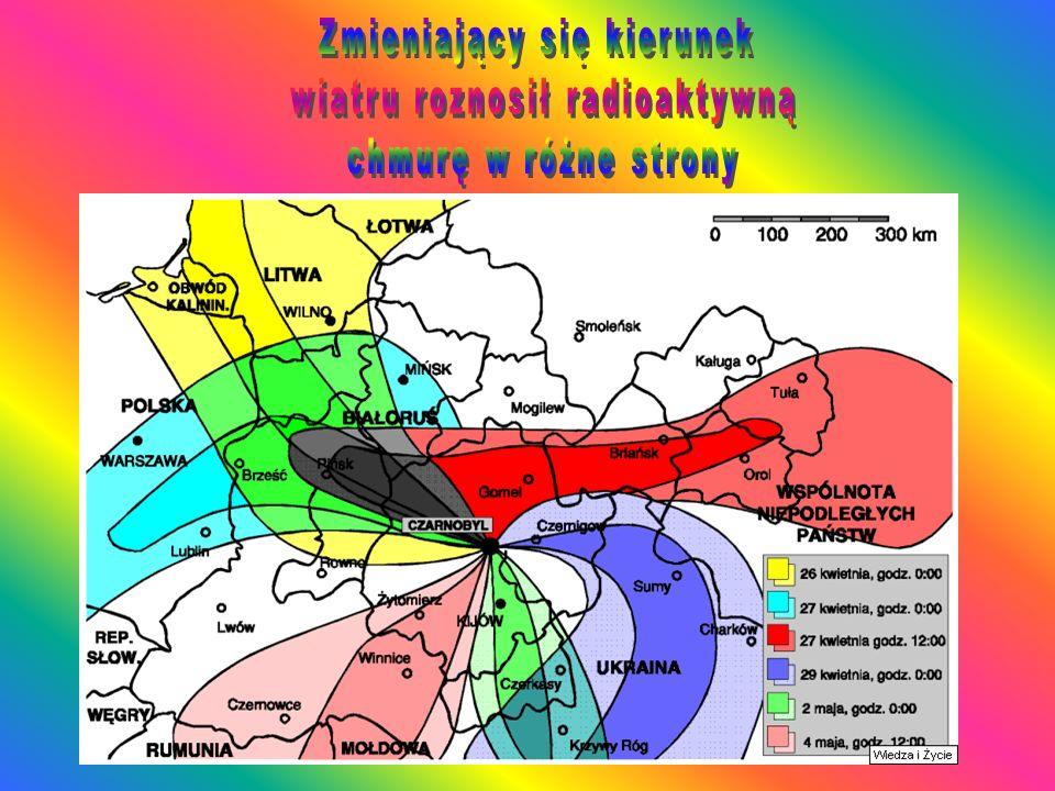 O godz. 7:00 placówka SPSP w Mikołajkach stwierdziła kilkakrotny wzrost mocy dawki promieniowania gamma i około siedmiuset krotny wzrost ogólnej radio