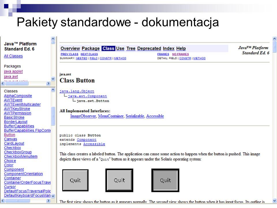 Pakiety standardowe - dokumentacja