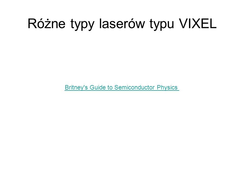 Różne typy laserów typu VIXEL Britney's Guide to Semiconductor Physics
