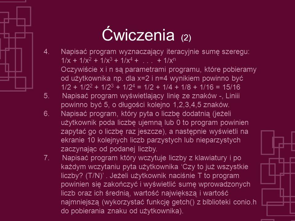 Ćwiczenia (2) 4.