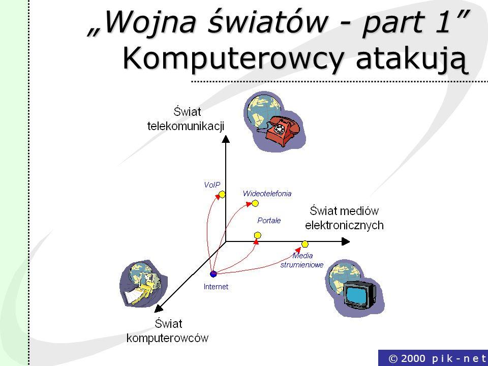 © 2000 p i k - n e t Wojna światów - part 1 Komputerowcy atakują