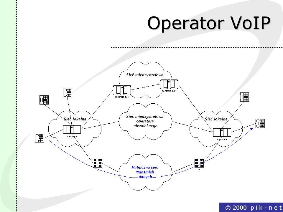 © 2000 p i k - n e t Operator VoIP