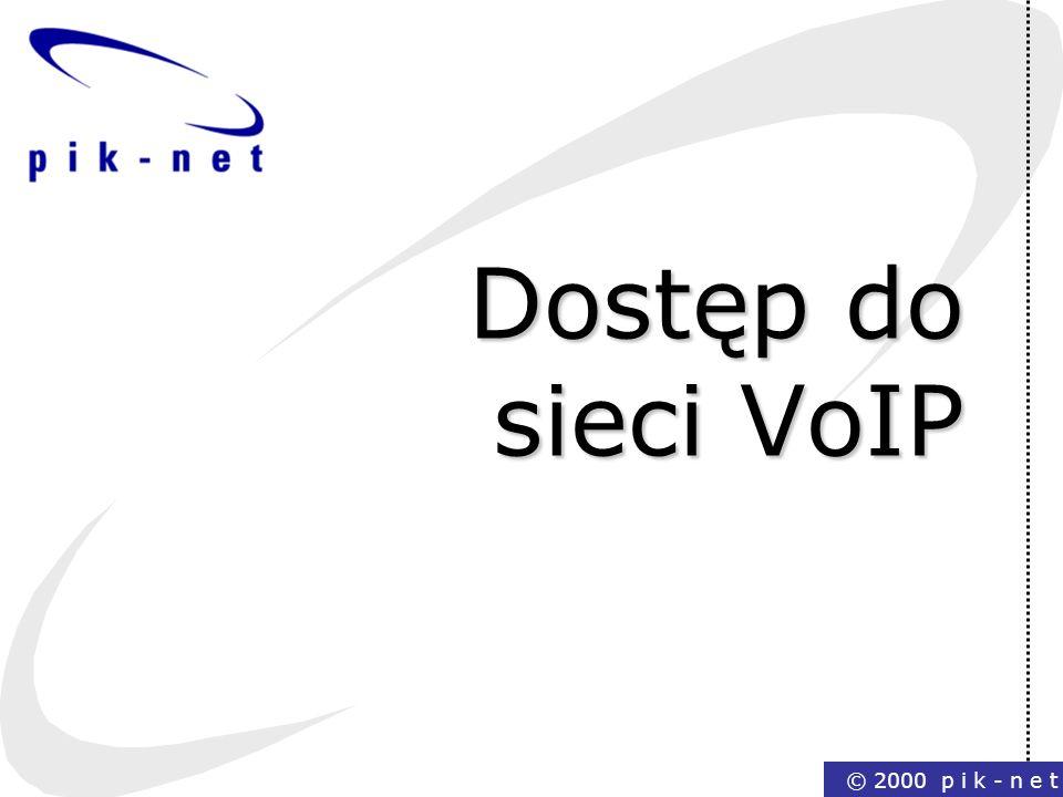 © 2000 p i k - n e t Dostęp do sieci VoIP