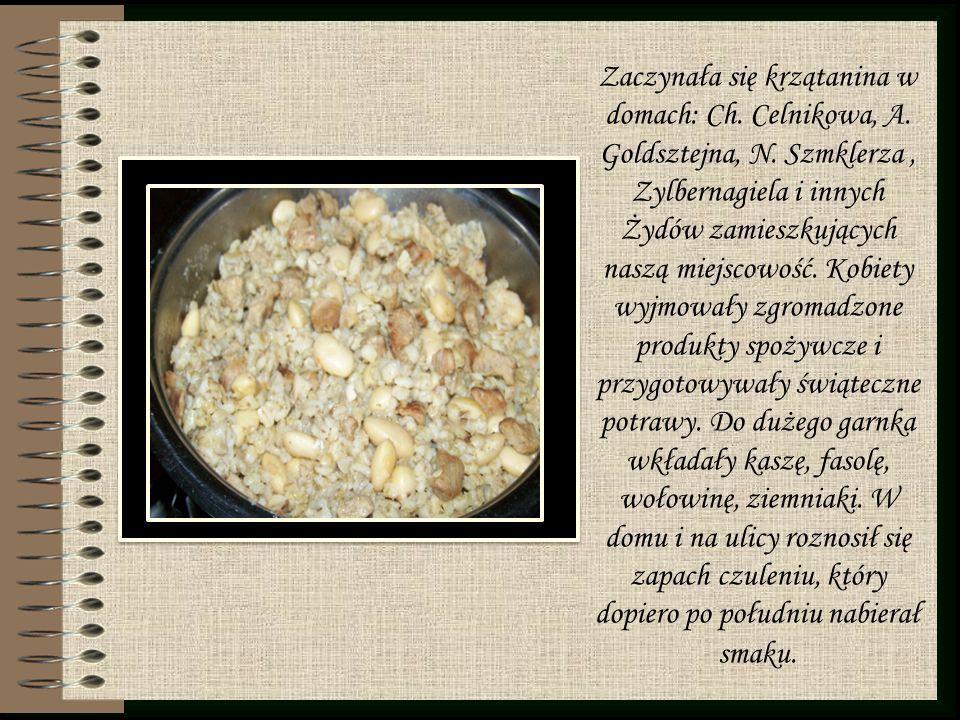 Na stolnicę Żydówki wysypywały mąkę, wybijały jajka, dodawały tłuszcz oraz inne niezbędne składniki i zagniatały ciasto na chałki.
