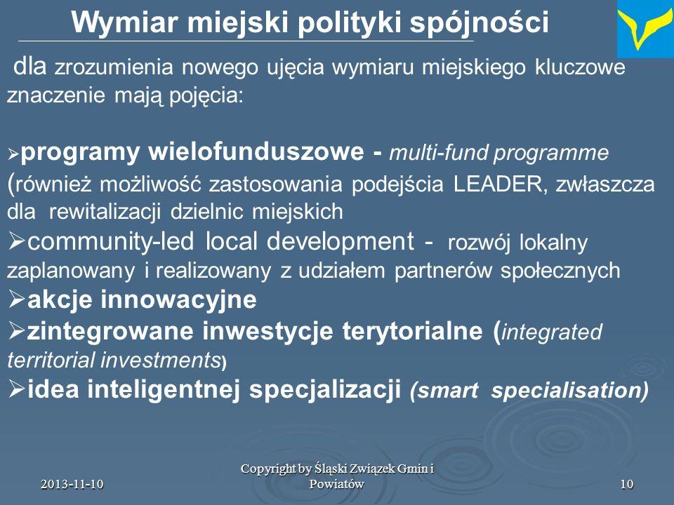 2013-11-10 Copyright by Śląski Związek Gmin i Powiatów11 Co budzi wątpliwości .