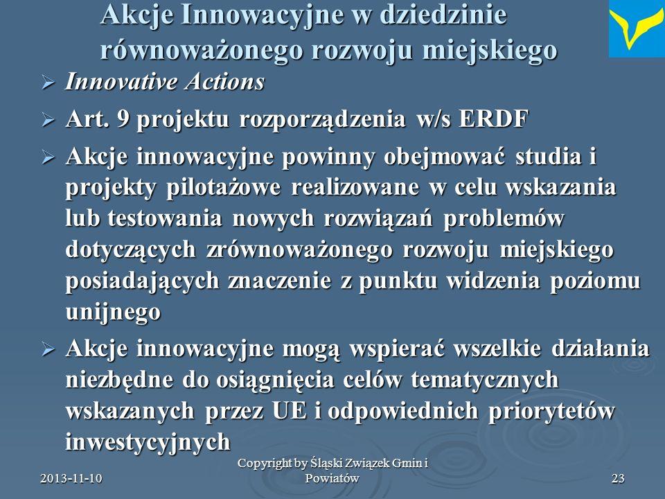 2013-11-10 Copyright by Śląski Związek Gmin i Powiatów24 Co z tym dalej robimy.