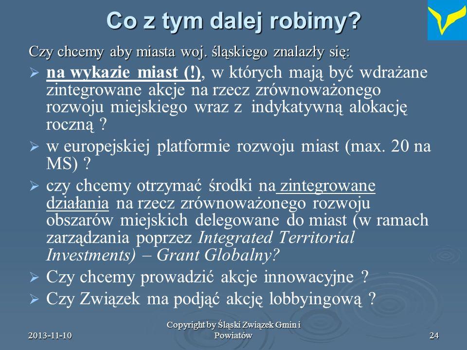 2013-11-10 Copyright by Śląski Związek Gmin i Powiatów25 Dziękuję za uwagę Dr Ferdynand Morski www.silesia.org.pl