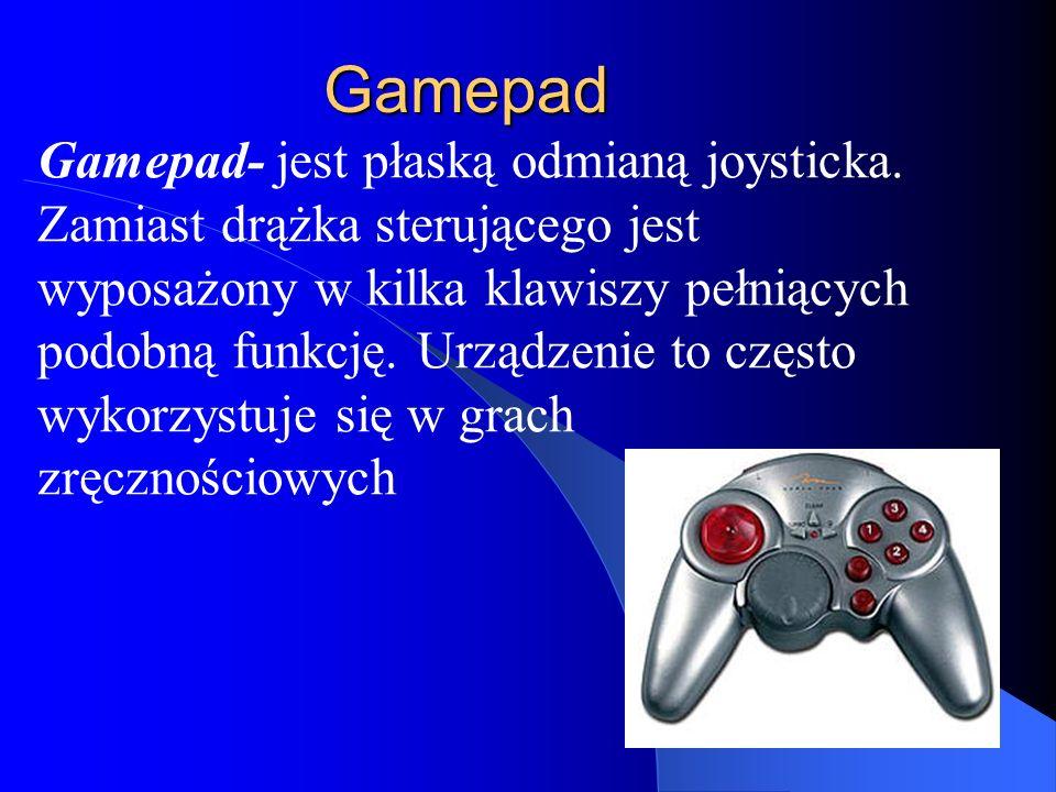 Gamepad Gamepad- jest płaską odmianą joysticka.