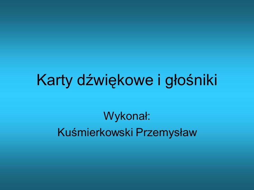 Karty dźwiękowe i głośniki Wykonał: Kuśmierkowski Przemysław