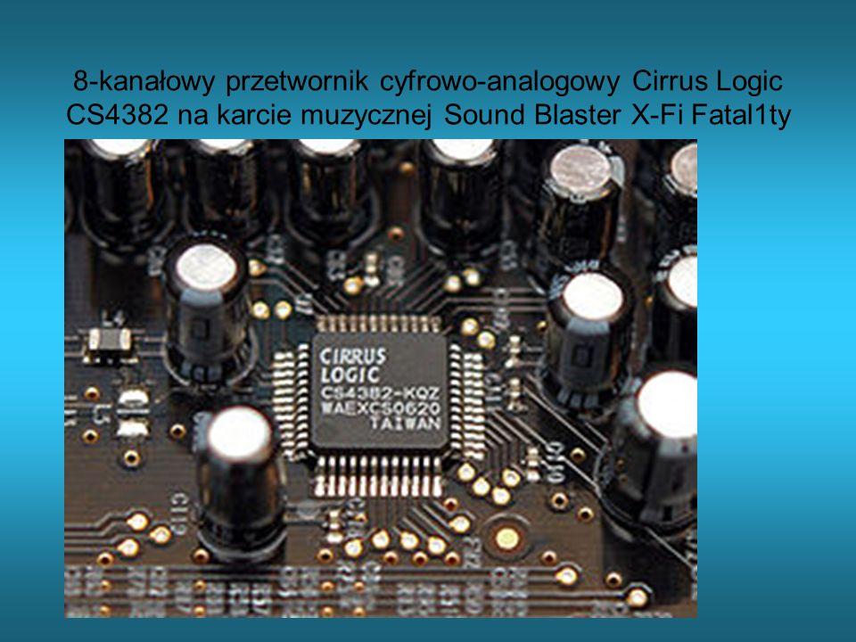 8-kanałowy przetwornik cyfrowo-analogowy Cirrus Logic CS4382 na karcie muzycznej Sound Blaster X-Fi Fatal1ty
