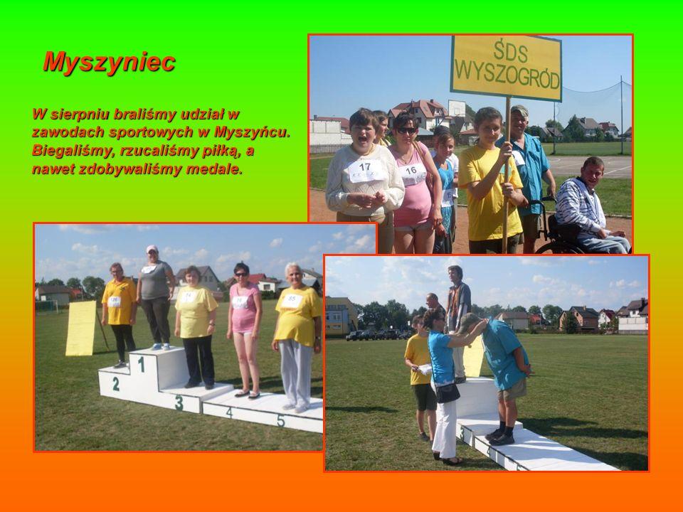 Myszyniec W sierpniu braliśmy udział w zawodach sportowych w Myszyńcu.