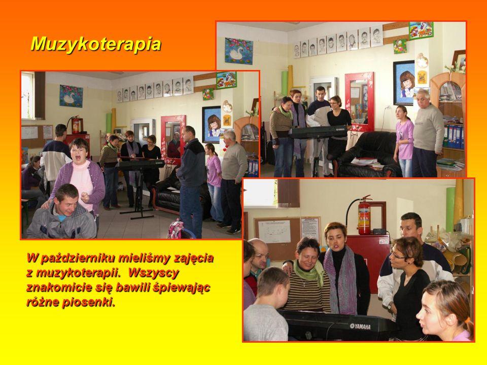 Muzykoterapia W październiku mieliśmy zajęcia z muzykoterapii.
