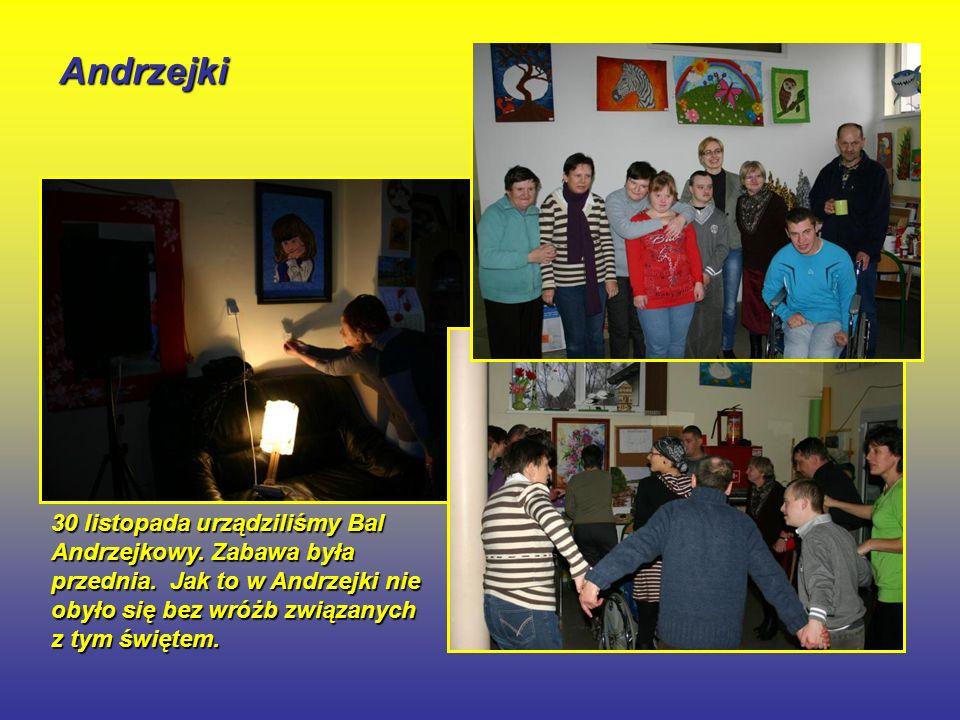 Andrzejki 30 listopada urządziliśmy Bal Andrzejkowy.