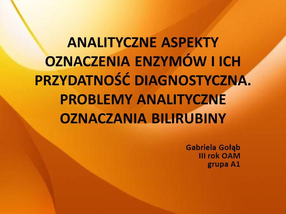 ENZYMY – WARTOŚĆ DIAGNOSTYCZNA Kwaśna fosfataza (ACP) - prostata Alkaliczna fosfataza (ALP) – wątroba, kości Amylaza - trzustka Lipaza - trzustka Dehydrogenaza mleczanowa (LDH) – wątroba, serce Transaminaza Asparanginowa (AST) – wątroba, serce Transaminaza Alaninowa (ALT) – wątroba, serce Kinaza Kreatynowa (CK) – serce, mięśnie, mózg