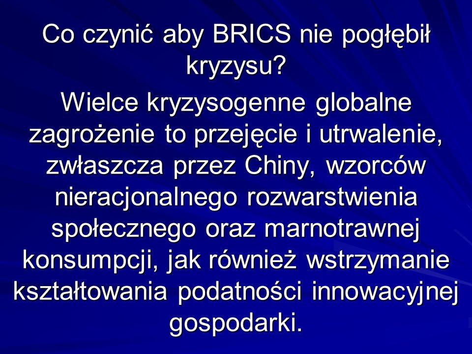 Co czynić aby BRICS nie pogłębił kryzysu.