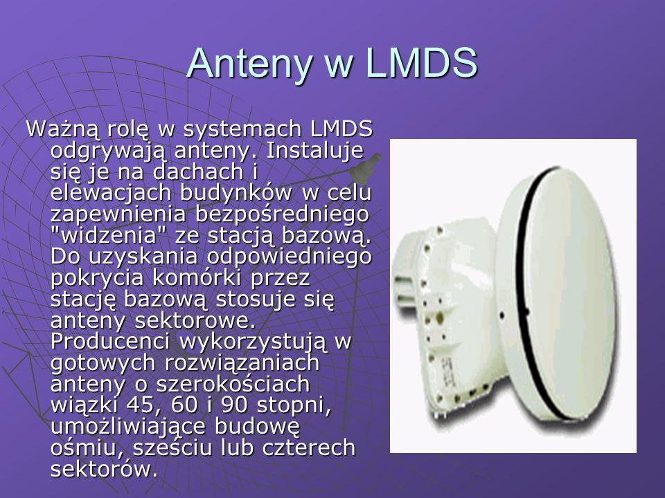 Anteny w LMDS Ważną rolę w systemach LMDS odgrywają anteny.