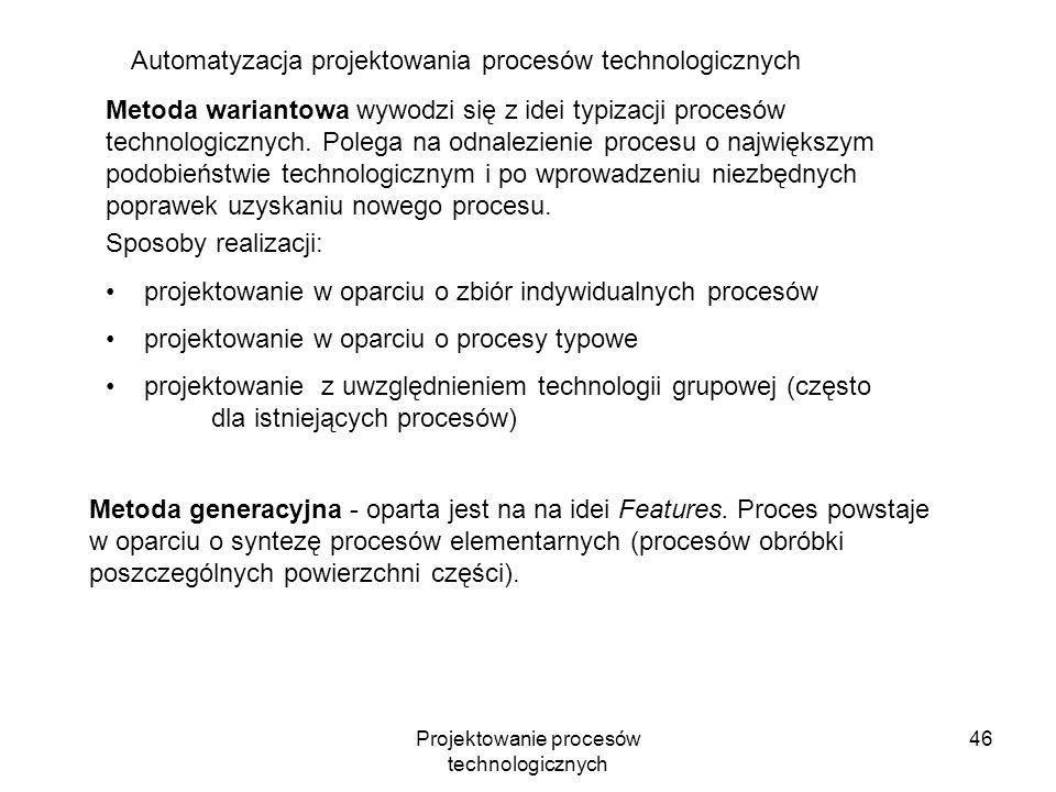 Projektowanie procesów technologicznych 45 Wykorzystanie oprogramowania SolidWorks do tworzenia graficznej dokumentacji technologicznej