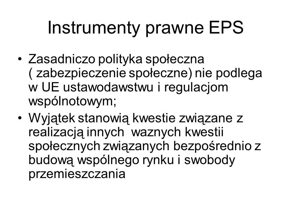 Instrumenty prawne EPS Obszary regulowane w ramach EPS ciągle się poszerzają, dotyczą m.
