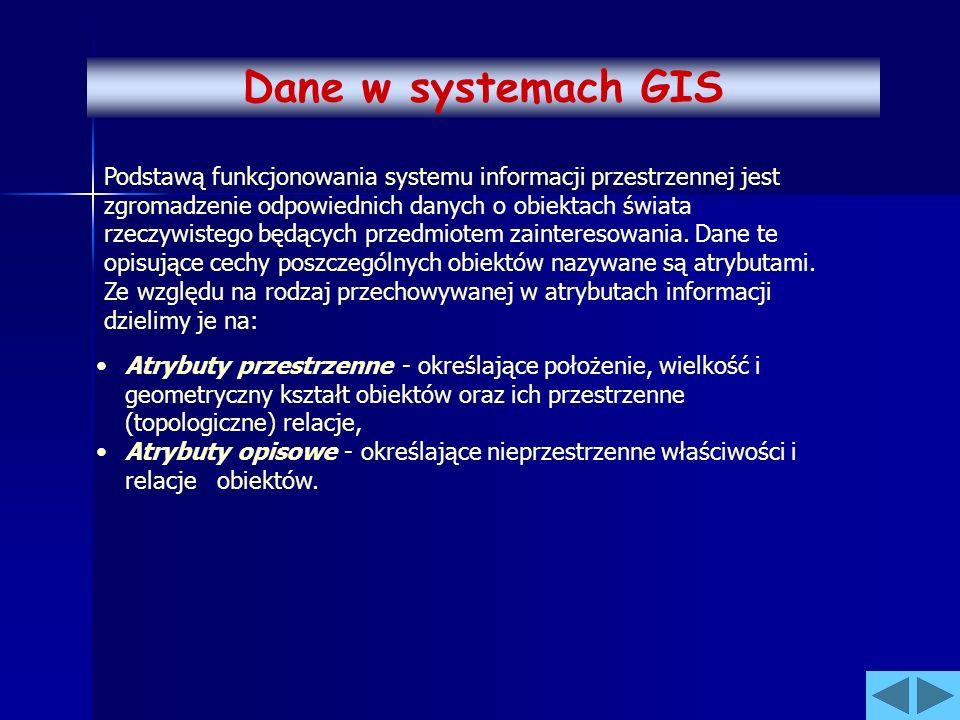 Podstawą funkcjonowania systemu informacji przestrzennej jest zgromadzenie odpowiednich danych o obiektach świata rzeczywistego będących przedmiotem z