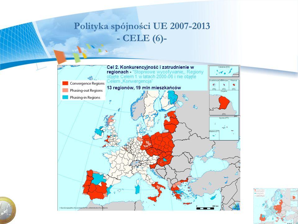 Polityka spójności UE 2007-2013 - CELE (6)- Cel 2. Konkurencyjność i zatrudnienie w regionach -
