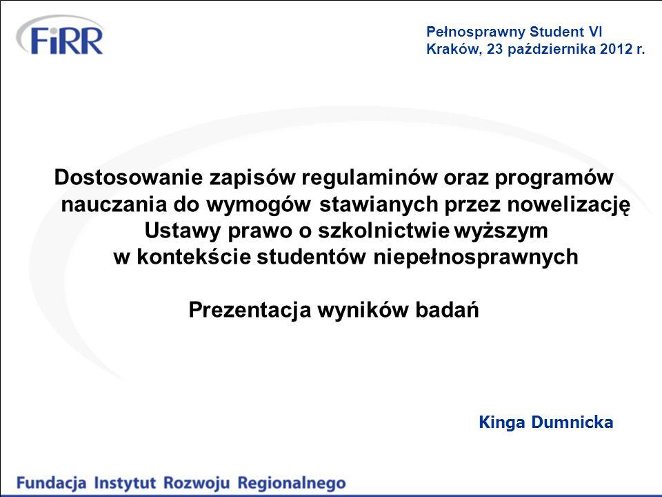 Dostosowanie zapisów regulaminów oraz programów nauczania do wymogów stawianych przez nowelizację Ustawy prawo o szkolnictwie wyższym w kontekście stu