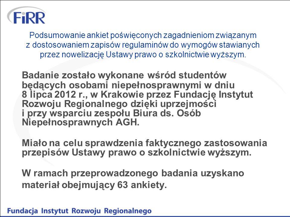 Podsumowanie ankiet poświęconych zagadnieniom związanym z dostosowaniem zapisów regulaminów do wymogów stawianych przez nowelizację Ustawy prawo o szk