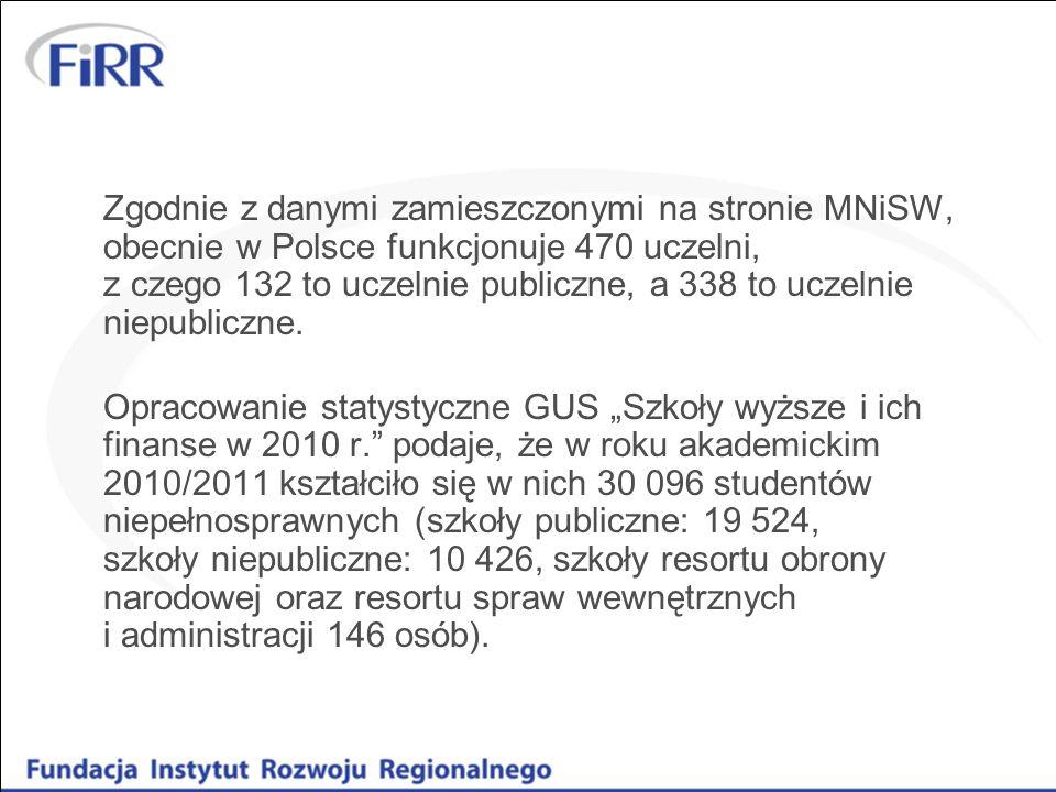 Zgodnie z danymi zamieszczonymi na stronie MNiSW, obecnie w Polsce funkcjonuje 470 uczelni, z czego 132 to uczelnie publiczne, a 338 to uczelnie niepu