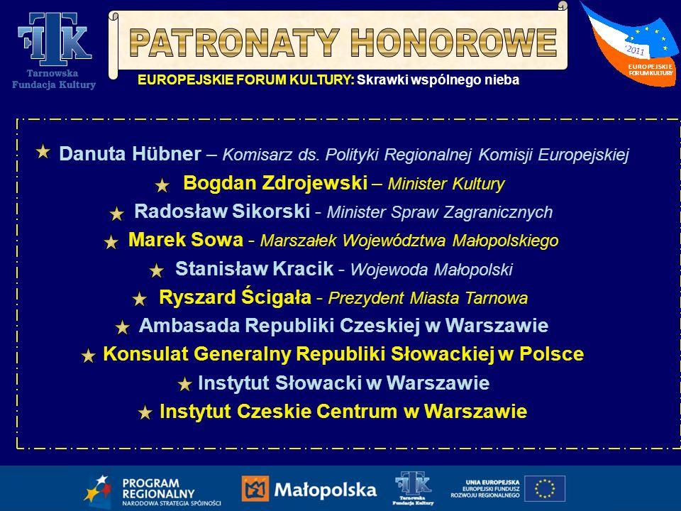 Instytut Czeskie Centrum w Warszawie Danuta Hübner Komisarz ds.