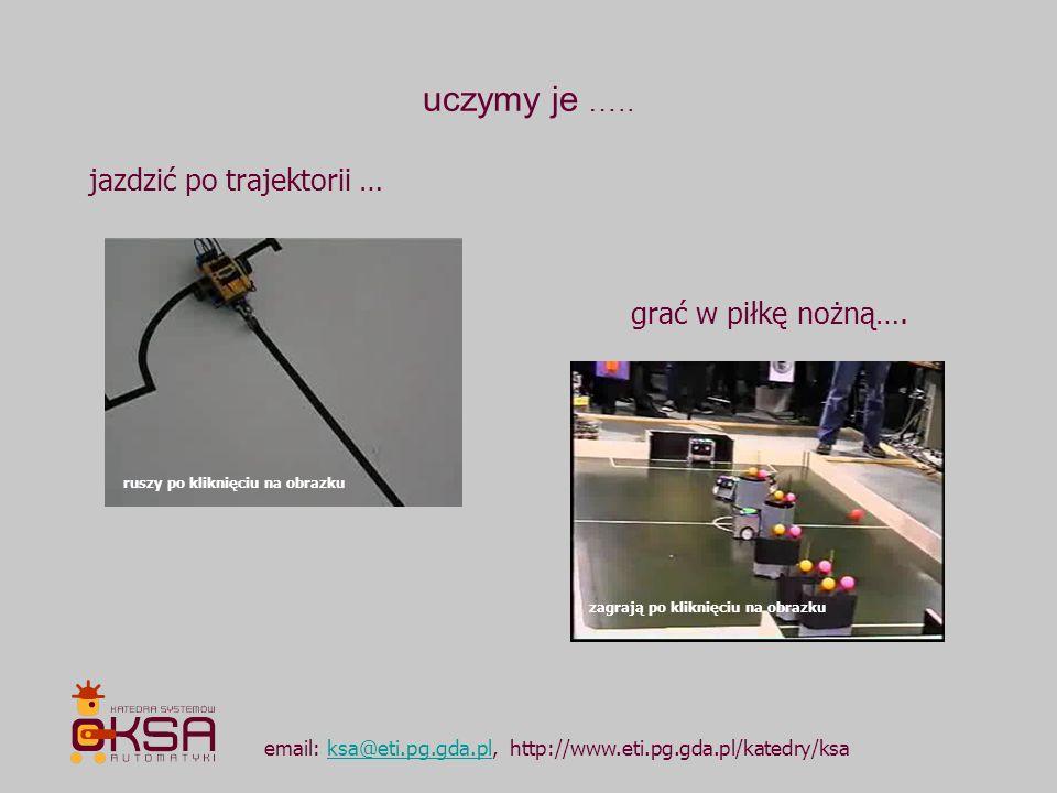 uczymy je ….. email: ksa@eti.pg.gda.pl, http://www.eti.pg.gda.pl/katedry/ksaksa@eti.pg.gda.pl jazdzić po trajektorii … grać w piłkę nożną…. ruszy po k