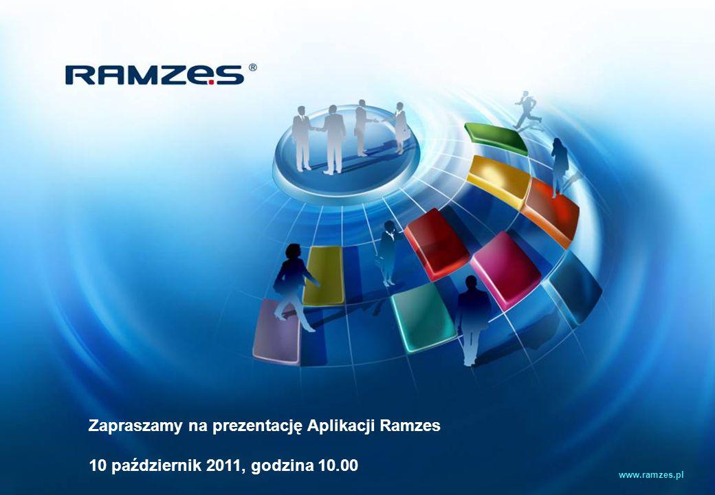 Zapraszamy na prezentację Aplikacji Ramzes 10 październik 2011, godzina 10.00 www.ramzes.pl