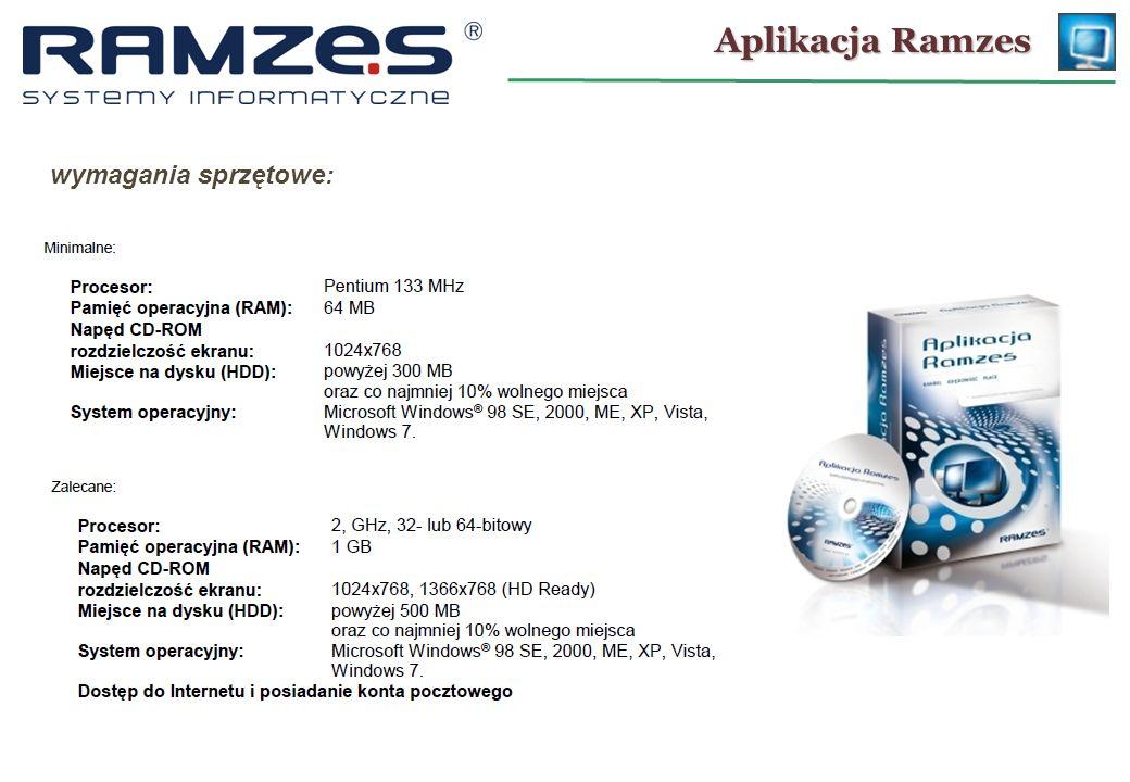 Aplikacja Ramzes wymagania sprzętowe: