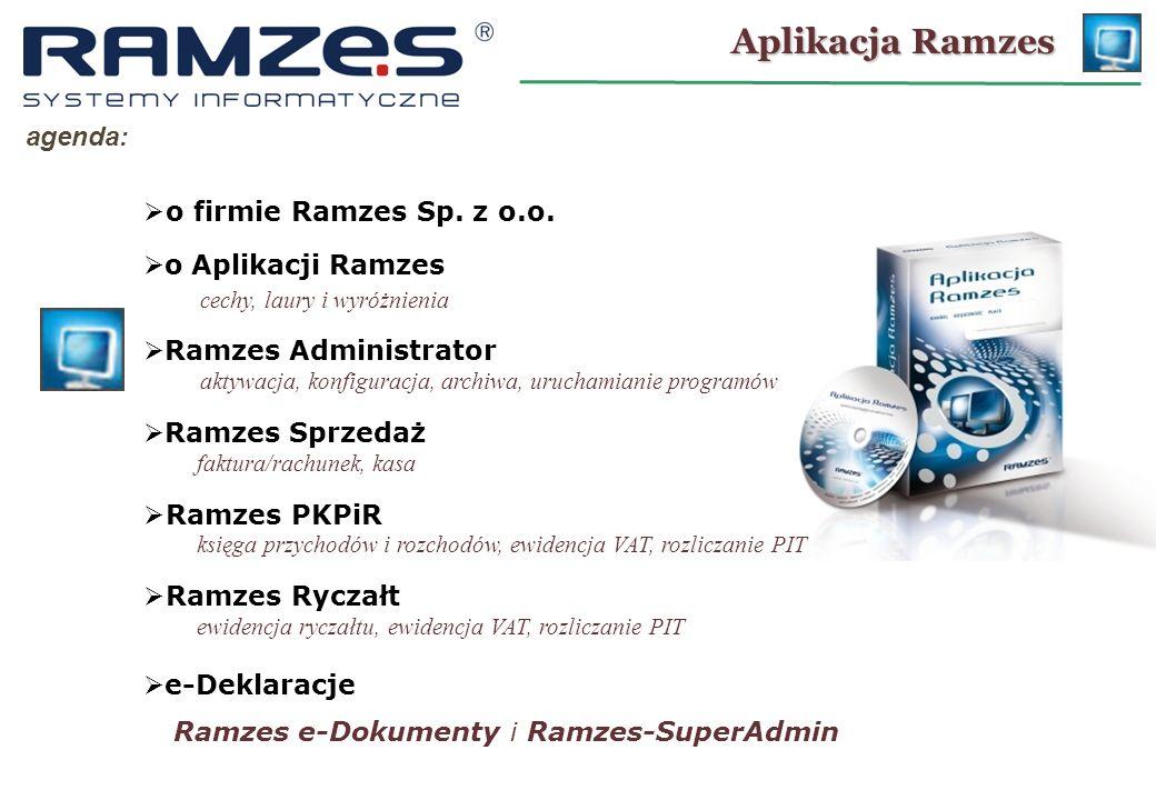 o archiwach: Ramzes – Administrator KONFIGURACJA: Program tworzy archiwum na tym samym dysku, na którym znajdują się oryginalne bazy programu.