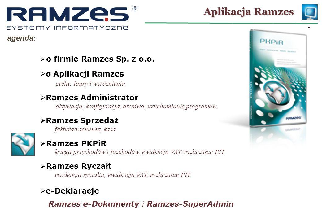 Aplikacja Ramzes agenda: o firmie Ramzes Sp.z o.o.