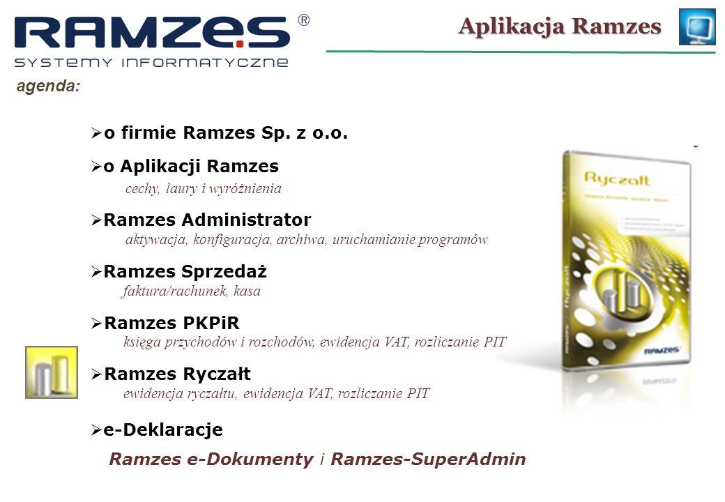 Ramzes – Administrator URUCHOMIENIE PROGRAMU: