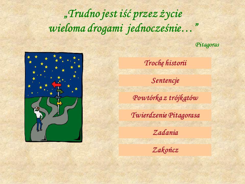 Twierdzenie Pitagorasa Opracowała: Brygida Piesik