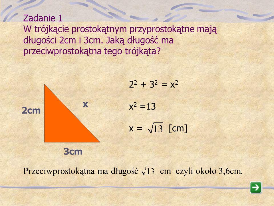d h s s 2 + d 2 = h 2 k w c k 2 = c 2 + w 2 a b c a 2 + b 2 = c 2 To nie jest trójkąt prostokątny Czy podane wzory są poprawne?