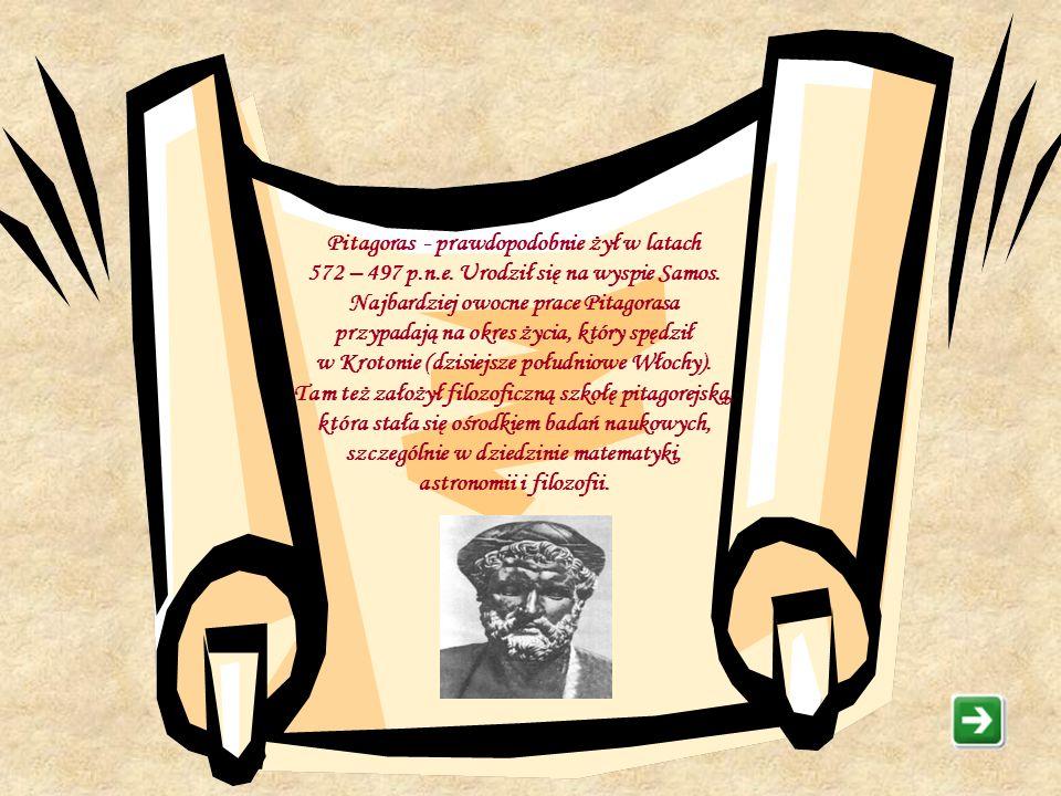 Trudno jest iść przez życie wieloma drogami jednocześnie… Pitagoras Trochę historii Sentencje Powtórka z trójkątów Twierdzenie Pitagorasa Zadania Zako
