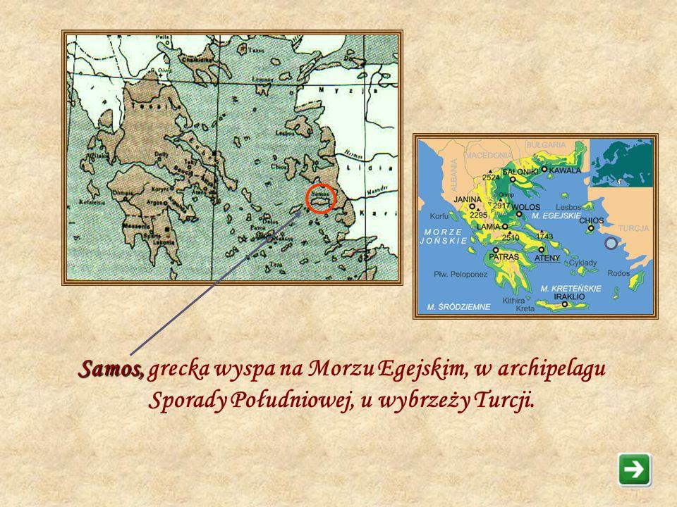 Pitagoras - prawdopodobnie żył w latach 572 – 497 p.n.e. Urodził się na wyspie Samos. Najbardziej owocne prace Pitagorasa przypadają na okres życia, k
