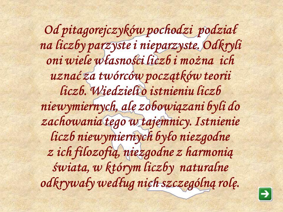Pitagoras nie pozostawił żadnych prac i o jego działalności wiadomo niewiele. Dużo podróżował. We Francji i Babilonie miał okazję poznać dokonania tam