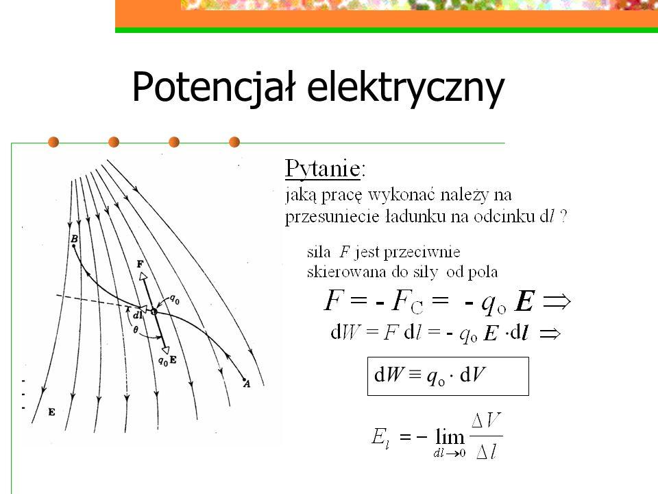 Potencjał elektryczny dW q o dV